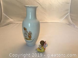 "Holly Hobby vintage vase and 3"" little figure"