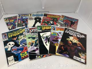 Marvel's Spiderman Comics Bagged + Boarded Lot of 10