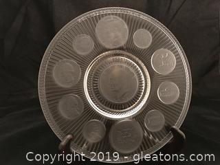 Coin collector plate 1971 by Imperial Glass Co