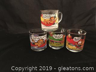 Garfield vintage cups from McDonalds