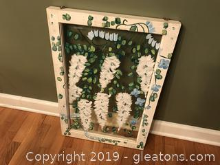 Farmhouse window frame painting