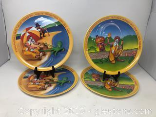 4 1977 McDonald's Plates