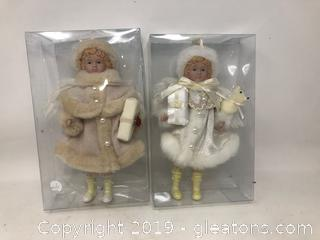 2 Vintage Angel Dolls