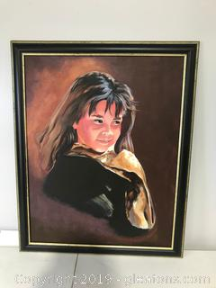 "Native American Child ""zuni Girl"" by Barbara Earnhart"