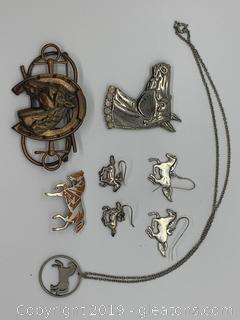 Costume Jewelry Horse Collection