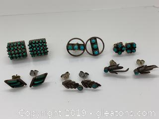 Sterling and Turqouis Earring Collection