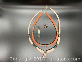Native American Heishi Necklaces