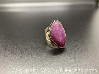 Ring Sterling and Gemstone