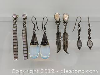 Sterling and Gemstone Earring Collection