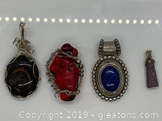 Gemstone and Sterling Pendant Collection