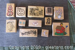 12 Wood & Rubber Stamps for Crafting  Most Unused