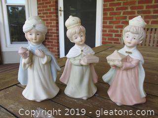 Vintage Lefton 3 Nativity 3 Gift Bearers Figurines
