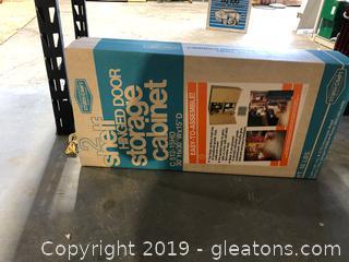 Sturdi Craft 2 Shelf Hinged Door Storage Cabinet
