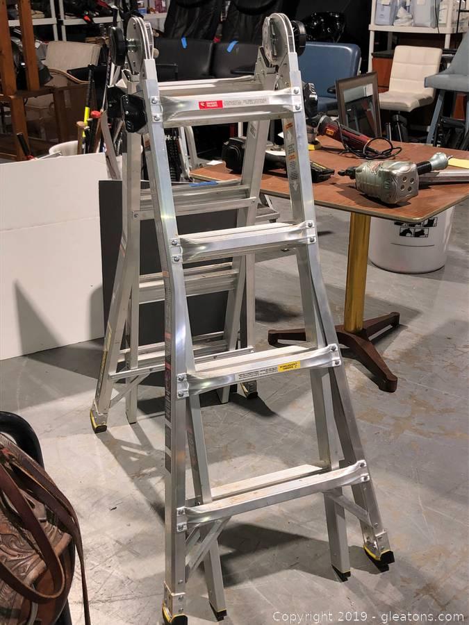Gleaton S Metro Atlanta Auction Company Estate Sale Business Marketplace Auction Lawn Garden Tools Equipment Appliance Sale Item Gorilla Aluminum Ladder