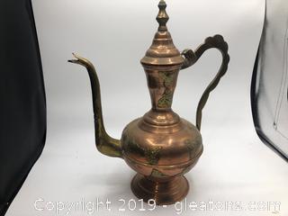 Brass handled pitcher