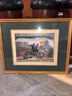 Western Horse and Carriage Art