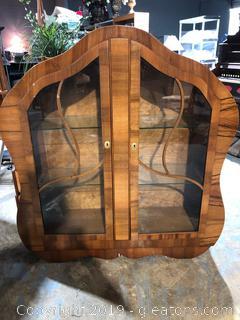 Vintage Elegant Curio Cabinet