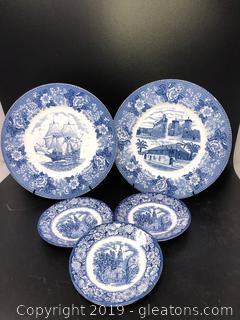 Lot of Liberty Blue and White China