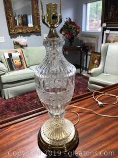 Diamond Cut Lead Crystal Lamp