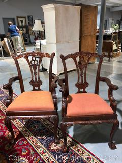 2 Chippendale Captain Chairs