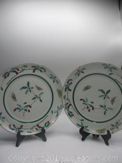Mottahedeh Family Verte Plates