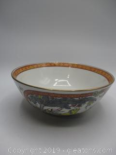 Antique Decorative Punch Bowl