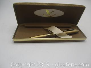 Vintage Gold Colored Centennial Pen + Pencil Set