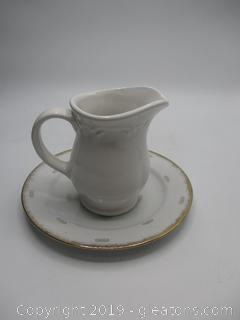 Pitcher and Plate