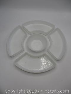 Milk White Chip & Relish Dip Set