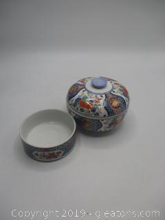 Japanese Rice Bowl and Serving Dish