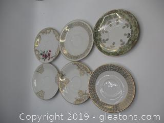 Bavaria Mixed Teacup Plate Lot