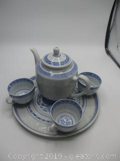 Oriental Design Tea Set