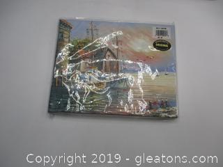 Boat Rental/Tackle Decor & 2  8 x 10 Canvas Ocean Scences