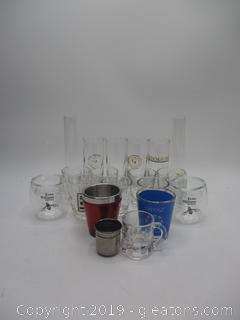 Shot Glasses & Glass Lot