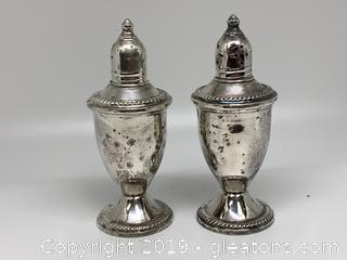 Sterling Duchin Salt and Pepper Shakers B