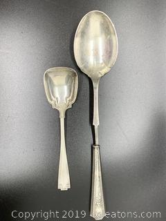 Sterling Spoons Art Deco Antique