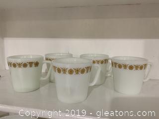 Butterfly Gold D Handle Mug Set