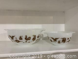 Early American Pyrex Nesting Bowls