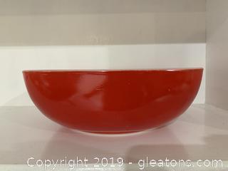 Red Pyrex 2½ qt Bowl 525 B- 025