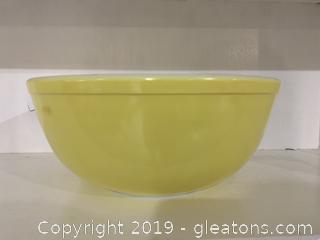Yellow Pyrex Nesting Bowl 4 qt E