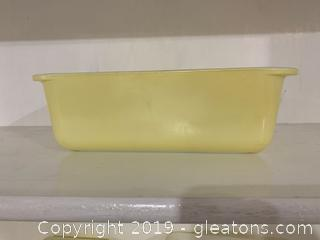 Yellow Pyrex Loaf Pan