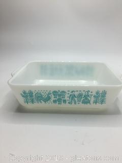 Pyrex Turquoise Butter Print Baking Dish