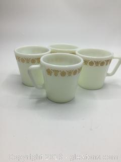 Pyrex Corning Butterfly Gold Mugs