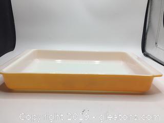 Pyrex Brilliant Orange Lasagna Pan