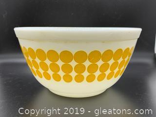 Yellow Polk A Dot Nesting Bowl