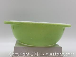 Lime Green Pyrex Casserole