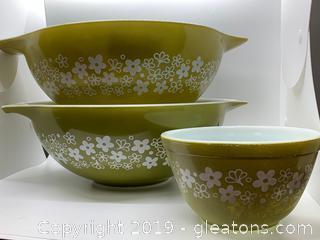 Spring Blossom Pyrex Cinderella Mixing Bowls
