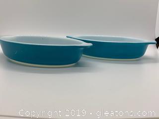 Horizon Blue Pyrex 10oz Dishes Set of 2