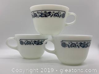 Old Town Pyrex Mugs Set of 3