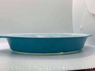 Horizon Blue Pyrex Divided Casserole